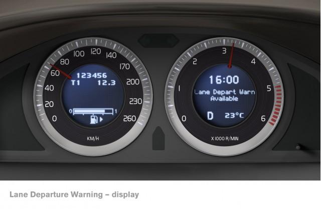 Volvo lane departure warning