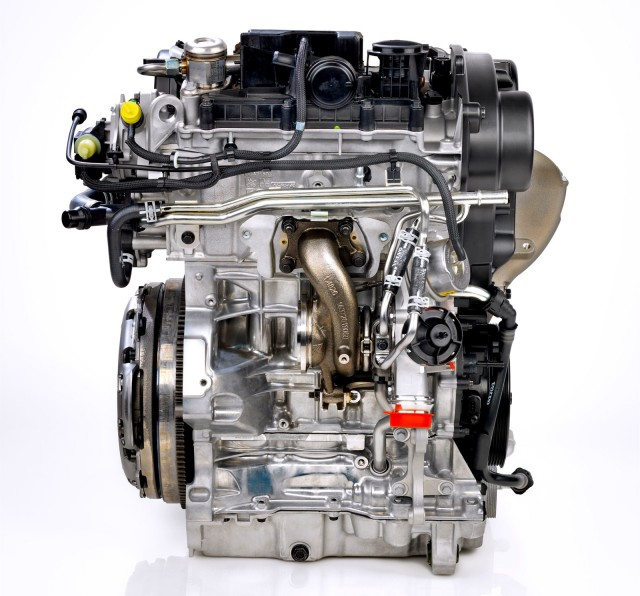 Volvo three-cylinder engine