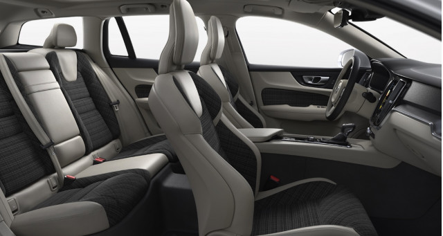 2019 Volvo V60 city weave interior