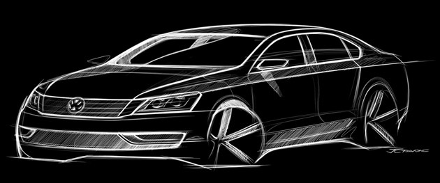 VW Midsize Sedan Sketch