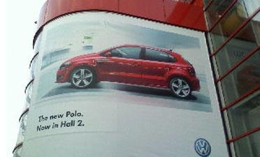 VW Polo BillBoard Geneva Motor Show