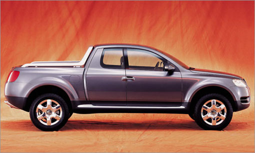 Vw Touareg Becomes Pickup Truck