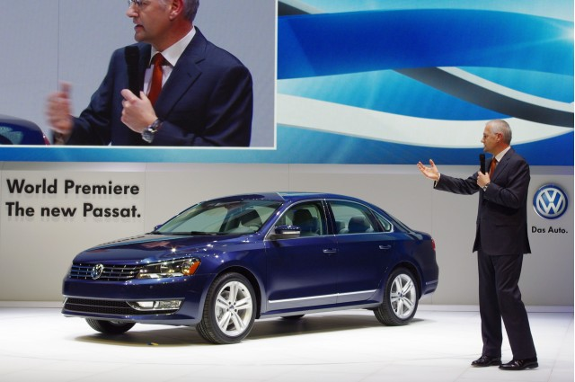 VWoA's CEO Johnathan Browning and True-Blue 2012 Passat