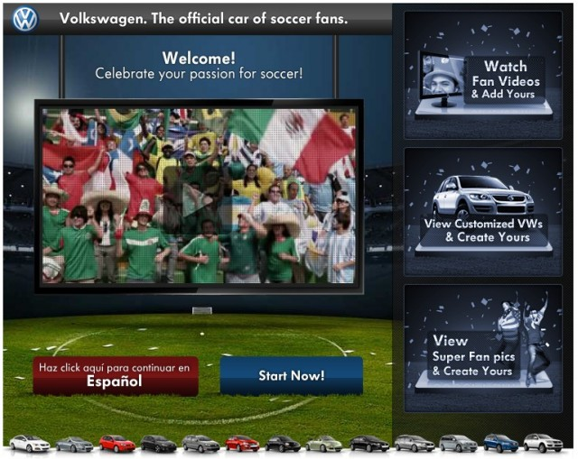 VW's Facebook promotion for the 2010 World Cup