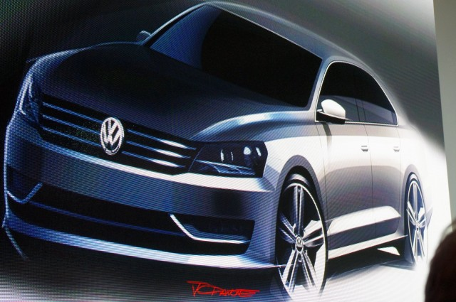 VW's New Mid-Size Sedan Illustration