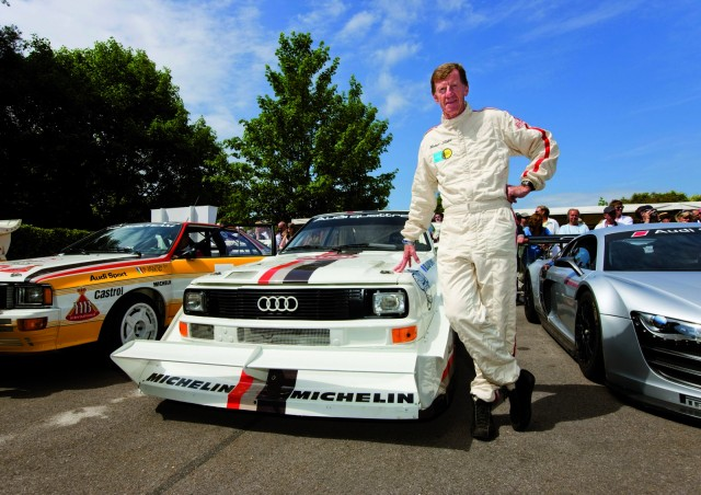 Walter Röhrl and his Audi Sport quattro S1.