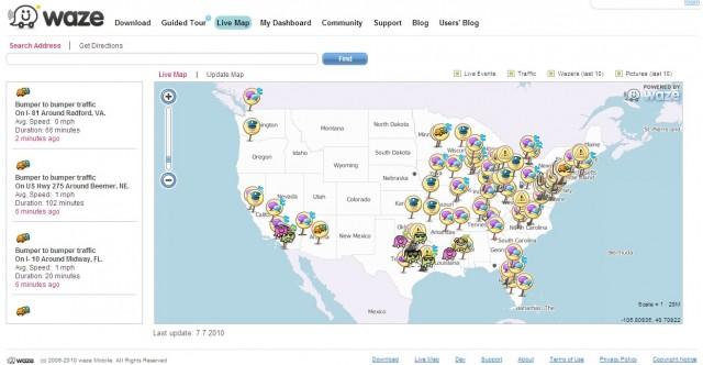 Waze.com website