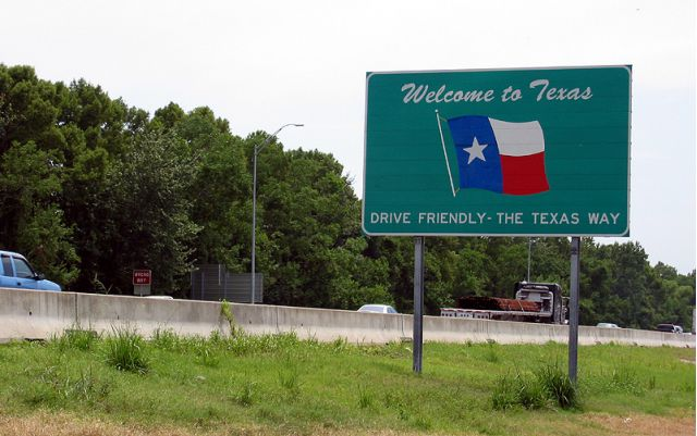Image result for Welcome to Texas sign I-10