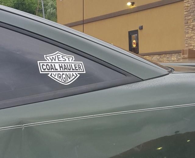 West Virginia Coal Hauler window sticker