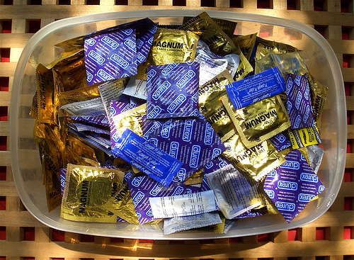 What's a Few Hundred Condoms Between Friends? by Flickr user xmasons