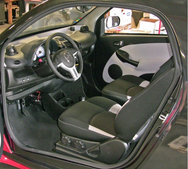 The WheeGo Whip offers plenty of room for two, a car-like feel, and high seating position that is as tall as many crossovers.