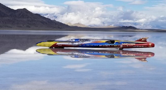 World's fastest wheel-driven car: Turbinator II