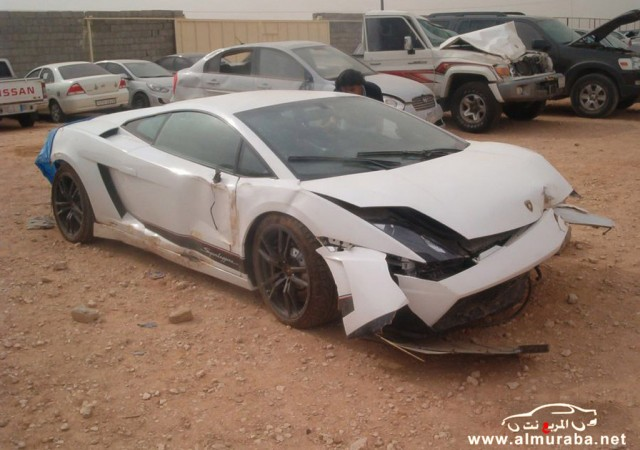 Wreckage Of A Lamborghini Gallardo LP 570 4 Superleggera That Crashed In  Riyadh, Saudi