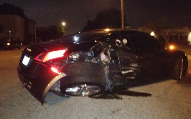 Wreckage of Audi R8 involved in crash in Tampa, Florida