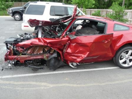 Wrecked 2010 Mustang GT on Test Drive, Five Star Safety ...