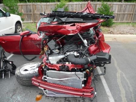 wrecked 2010 mustang gt
