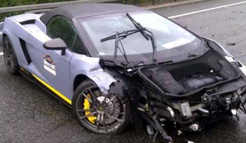 Lamborghini Gallardo Spyder Performante Crashes On Dodgeball Rally