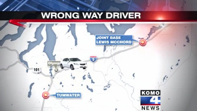 Wrong-way driver in Washington scares traffic