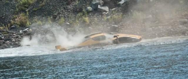 Zahir Rana's custom enzo crashes at the 2011 Targa Newfoundland