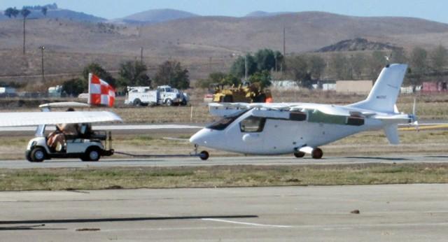 Zee.Aero flying car prototype - Image via Steve Eggleston/The Mercury News