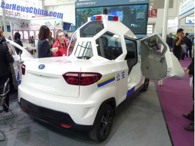 Zijing Qingyuan Armored Spherical Cabin Electric Patrol Vehicle Photo By Carnewschina
