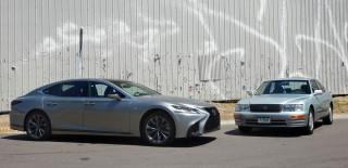 1997 Lexus LS 400 and 2018 Lexus LS 500