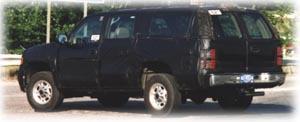 2000 Chevrolet Suburban masked.
