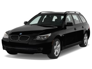 2008 BMW 5-Series 4-door Sports Wagon 535xiT AWD Angular Front Exterior View