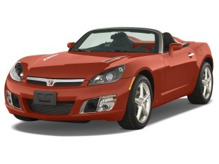 2008 Saturn Sky 2-door Convertible Red Line Angular Front Exterior View