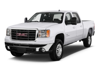 "2010 GMC Sierra 2500HD 4WD Crew Cab 153"" SLT Angular Front Exterior View"