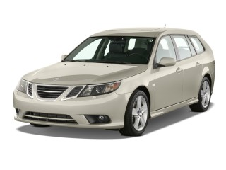 2011 Saab 9-3 4-door Wagon FWD Angular Front Exterior View