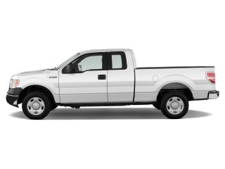 "2012 Ford F-150 2WD SuperCab 163"" XL Side Exterior View"