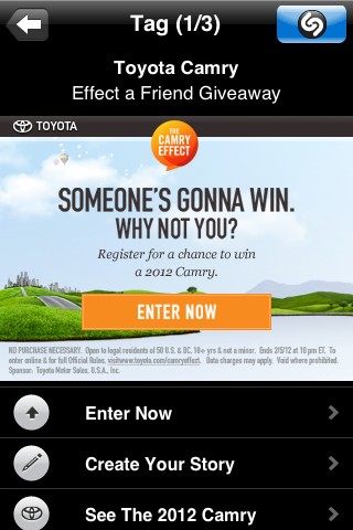 How To Win Two 2012 Toyota Camrys During The Super Bowl Video