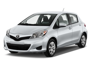 2012 Toyota Yaris 5dr LB Auto LE (Natl) Angular Front Exterior View