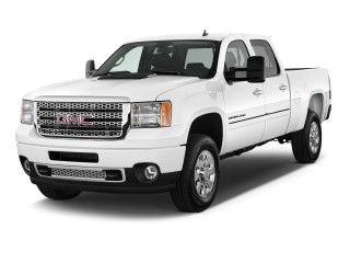 "2013 GMC Sierra 2500HD 4WD Crew Cab 153.7"" Denali Angular Front Exterior View"