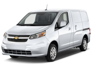 "2015 Chevrolet City Express Cargo Van FWD 115"" LT Angular Front Exterior View"