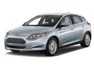 2015 Ford Focus Electric 5dr HB Angular Front Exterior View
