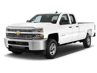 "2016 Chevrolet Silverado 2500HD 2WD Double Cab 158.1"" Work Truck Angular Front Exterior View"