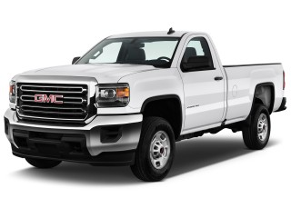 "2016 GMC Sierra 2500HD 2WD Reg Cab 133.6"" Angular Front Exterior View"