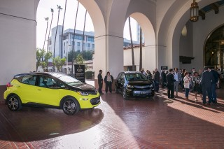 2017 Chevrolet Bolt EV electric car in Maven car-sharing fleet, Los Angeles [photo: Dan MacMedan fo