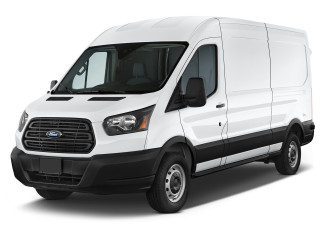 "2018 Ford Transit Van T-250 148"" Med Rf 9000 GVWR Dual Dr Angular Front Exterior View"