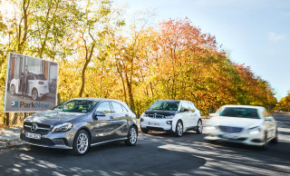 2018 Mercedes-Benz A-Class hatchback and 2018 BMW i3
