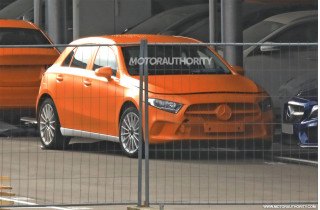 2018 Mercedes-Benz A-Class hatchback spy shots - Image via S. Baldauf/SB-Medien