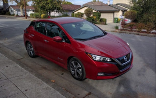 2018 Nissan Leaf electric car, test-driven by Shiva of Fremont, California, Oct 2017