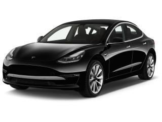 2018 Tesla Model 3 Long Range Battery AWD Angular Front Exterior View