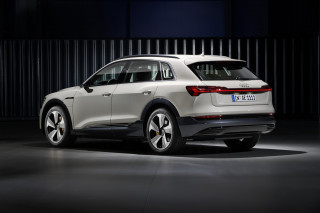 2019 Audi e-tron quattro, in European trim, at San Francisco launch event