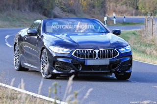 2019 BMW 8-Series Convertible spy shots - Image via S. Baldauf/SB-Medien