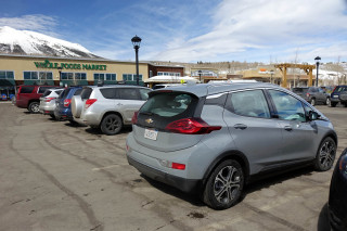 2019 Chevrolet Bolt EV at Whole Foods, Frisco, Colorado