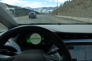 2019 Chevrolet Bolt EV on I-70 in Colorado