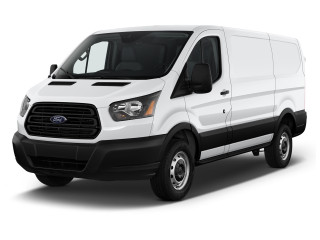 "2019 Ford Transit Van T-250 130"" Med Rf 9000 GVWR Sliding RH Dr Angular Front Exterior View"